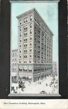 Minneapolis Minnesota~New Donaldson Building~Artist Drawing~Black Back~1910 PC
