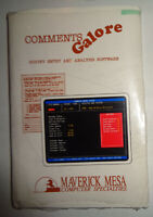 Comments Galore - survey entry and analysis software by Maverick Mesa for IBM PC