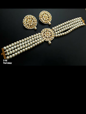 Traditional indian style Kundan and pearl  Choker ceremonial   Jewellery Set