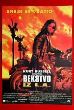 ESCAPE FROM L.A. JOHN CARPENTER KURT RUSSEL 1996 RARE EXYU MOVIE POSTER