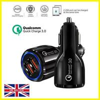 Qualcomm Quick Charge 3.0 Car Charger 30W Dual USB Port Smart Fast Charging