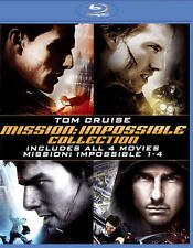 Mission: Impossible Quadrilogy (Blu-ray Disc, 2015, 4-Disc Set)
