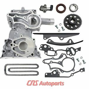 85-95 TOYOTA PICKUP 22RE 2.4L TIMING COVER CHAIN KIT + 2 HD STEEL GUIDES & BOLTS