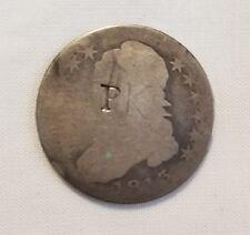 P countermark trade token host 1813 bust half dollar counterstamp silver coin