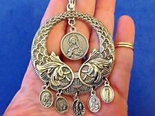Custom Religious Catholic Saint Medal NECKLACE MARY Lourdes Fatima Guadal