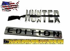 HUNTER EDITION HIGH QUALITY Trunk Emblem Truck car LOGO DECAL SIGN Bumper Badge
