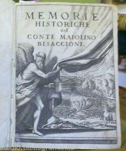 MEMORIE HISTORICHE DALLA MOSSA D'ARMI DI GUSTAVO RE DI SVEZIA... 1642 Bisaccioni