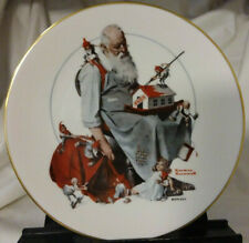 """Norman Rockwell 1979 Christmas Plate """"Santa's Helpers"""" Gorham Fine China"""