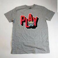 Play cloths Men 100% authenitc S/S t-shirt size large gray solid logo