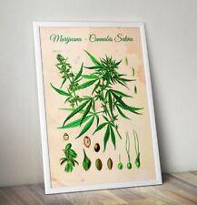 Cannabis Leaf Print, Weed Poster, Marijuana Poster, Spliff, Pot, Blunt