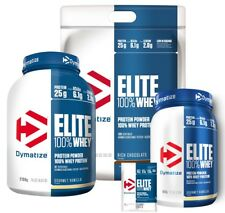 DYMATIZE ELITE WHEY 100% WHEY PROTEIN POWDER 907G 2.1KG 4.54KG ALL FLAVORS