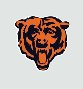 Chicago Bears Bear NFL Football Color Logo Sports Decal Sticker - Free Shipping