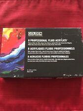 New Golden Artist Colors 8 Professional Fluid Acrylics - 8-1/2 oz tubes