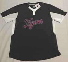 U6 New NWT MAJESTIC Cool Base Detroit Tigers Gray Jersey Shirt MEN S XL c885fdb66f6e2