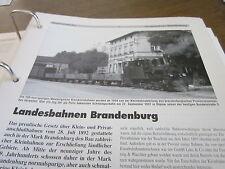 Neben - Schmalspurbahnen 2 Einleitung Landesbahnen Brandenburg 8S