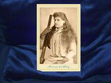 ANNIE OAKLEY v2 Cabinet Card Photograph Old West Vintage Photo CDV