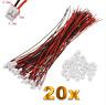 20 Set (40 Stück) 2Pin ZH 1.5mm Mini Micro JST Stecker 15cm Kabel 28AWG + Buchse