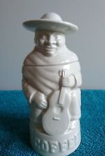 Vintage Price Kensington Coffee Jar Mexican Musician, White Glaze
