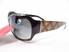 Revlon Style Science Black fashion sunglasses Gold brown side design 32792 FGX