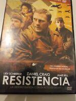 Dvd  RESISTENCIA  CON DANIEL CRAIG