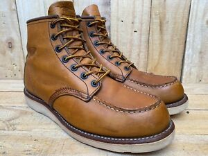Red Wing Heritage 875 Oro Legacy Moc Leather Boots Sz UK 8.5 || USA 9.5 E