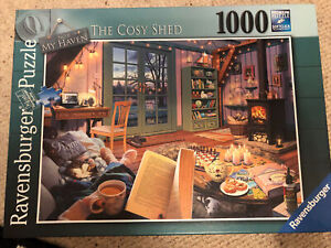Ravensburger no6 My Haven THE COSY SHED 1000 Piece Puzzle.