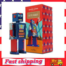 Vintage Robot Toy Tin Wind Up Toys 80s Retro Collectible Robots for Kids