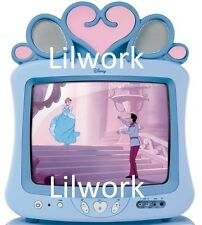 "Super Rare Vintage Memorex Walt Disney Cinderella Blue 13"" TV DT1350-CIN Works!"