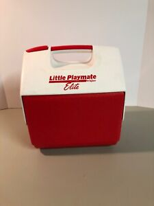 Vintage Little Playmate Elite By Igloo Cooler Red & White