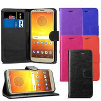 "For Motorola Moto E5 5.7"" Case - Premium Leather Wallet Flip Case Cover + Screen"