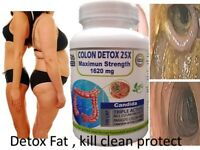 100 Detox Colon & Body Cleanse Maximum Strength Cleansing Diet Weight Loss Pills