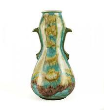 Minton Pottery Green & Blue Floral Vase, Secessionist Movement