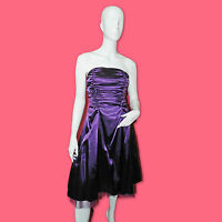 LISSA Robe de cocktail bustier satin violet taille S 34 36  état neuf