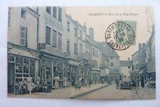 CPA 71 - CHAGNY - Rue de la République 1924  Réf E / 09