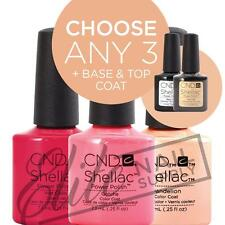 CND SHELLAC Color Coat 7.3ml - Any 3 Colours + Base + Top