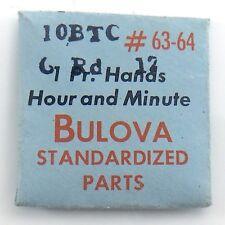 Genuine Bulova Parts 10BTC GRd 12 #63-64 1 One Pr Hands Hour Minute Opened I614