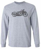 Vintage INDIAN Mororcycle LONG SLEEVE T-shirt - Harley Chopper Sturgis Biker
