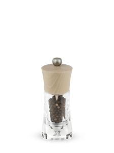 PEUGEOT - Moulin à poivre manuel en bois et acryl couleur naturel 14 cm Oléron