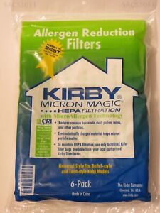 Kirby Vacuum Cleaner Bags F Style Universal Genuine Micron Magic HEPA Cloth