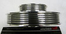 OBX Silver Aluminum Crank Pulley For 01 02 03 04 Civic DX EX LX 1.7L D17A