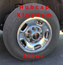 """SIERRA 2500 3500 17"""" 5-spoke Steel Wheel Liners Skins Covers CHROME Hubcaps SET"""