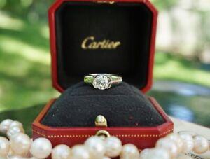 Cartier 1.50ct Diamond & Platinum Engagement Ring, C de Cartier, Round Solitaire