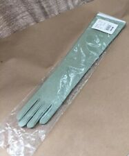 Vintage Nos Above The Elbow Opera Gloves Celadon Green Stretch Spandex Package