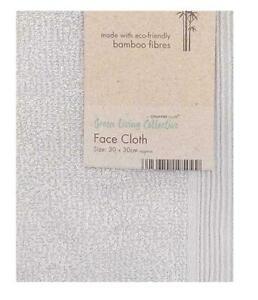 Eco Friendly Bamboo Bath Face Cloth Flannel in Grey/Silver BNWT