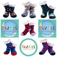 Nuzzles Slipper Non Slip Sole Sock Flooring Bedding thick BOY SIZE FIT ALL