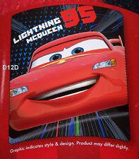 Disney Pixar Cars Lightning McQueen Printed Polar Fleece Throw Rug Blanket New