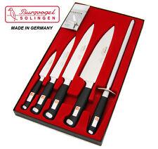 Burgvogel Quality GERMAN 5 piece Master Line chef knife set, stainless steel