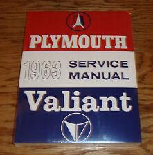 1963 Plymouth Valiant Shop Service Manual 63