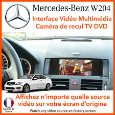 MERCEDES Class C W204 (2007 - 2014) interface vidéo multimédia TV DVD camera rec