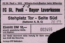 Ticket / Eintrittskarte II. BL 78/79 FC St. Pauli - Bayer 04 Leverkusen